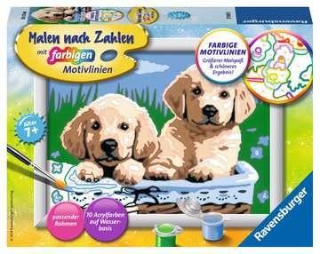 Süße Hundewelpen Malen nach Zahlen