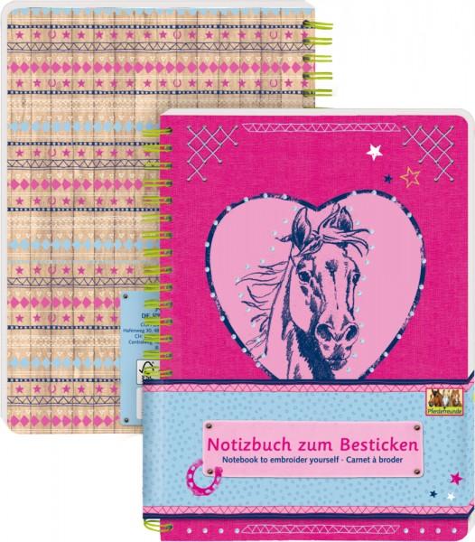 Notizbuch zum Besticken - Pferdefreunde