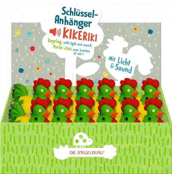 """Schlüsselanhänger m. Licht & Sound """"Kikeriki"""""""