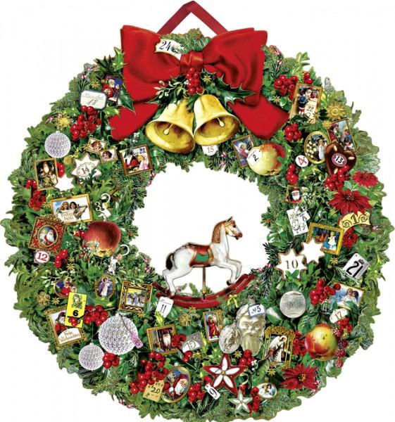 Festlicher Weihnachtskranz