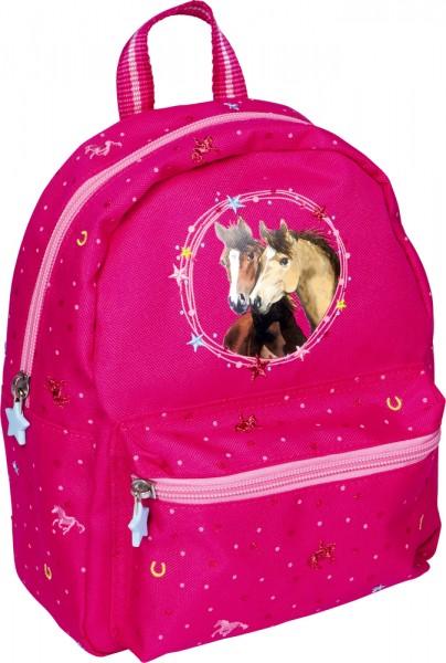 Kindergartenrucksack Pferdefreunde pink