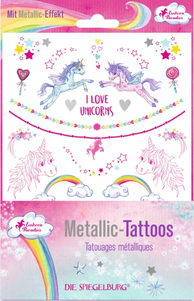Metallic Tattoos - Einhorn