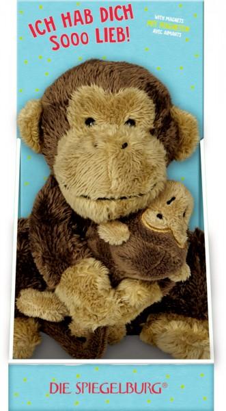 Affe Mama & Kind - Lustige Tierparade