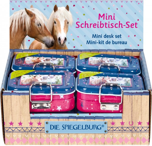 Mini-Schreibtisch-Set Pferdefreunde