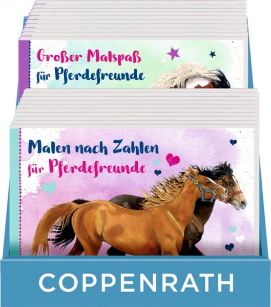 Thekenaufsteller - Malbücher für Pferdefreunde