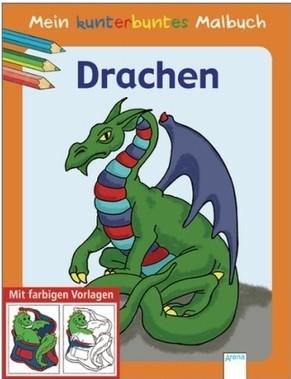 Mein kunterbuntes Malbuch Drachen