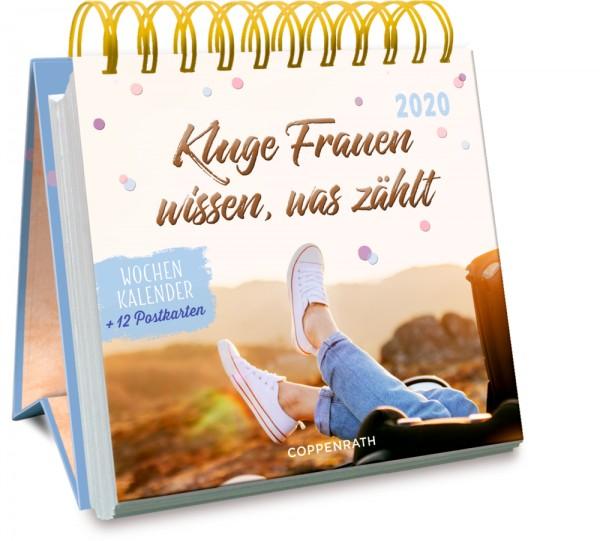 Jahreskalender: Kluge Frauen wissen, was zählt 2020 Wochenkalender + 12 Postkarten