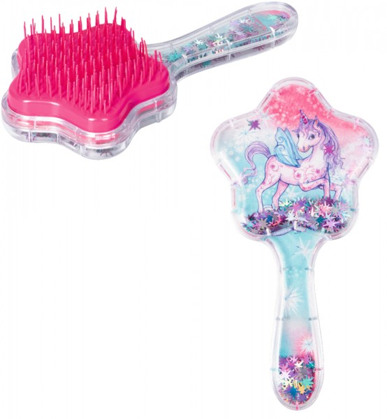 Haarbürste mit beweglichem Glitter