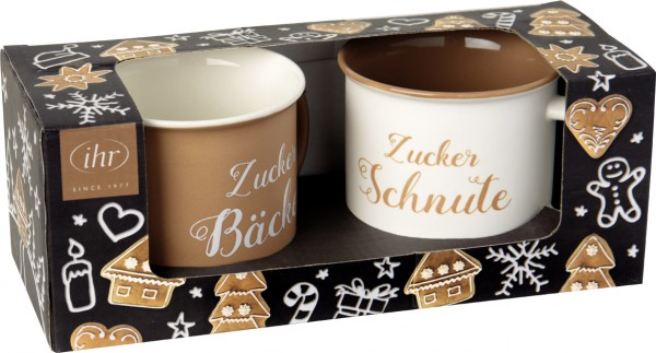 Porzellanbecher Set ZUCKERBÄCKER black