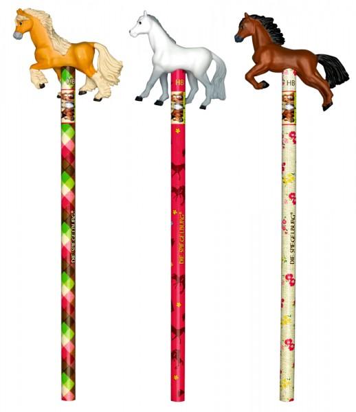 Bleistift mit Topper Pferdefreunde