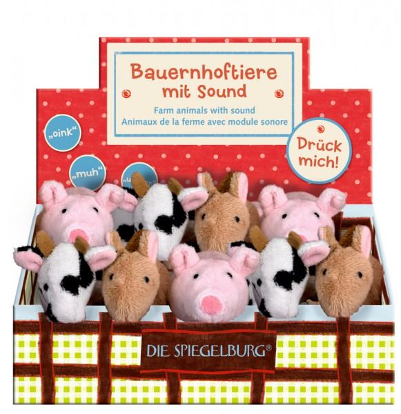 Bauernhoftiere mit Sound (Kuh, Schwein, Pferd) Set 1