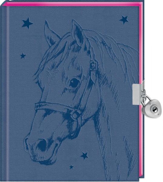 Tagebuch - Pferdefreunde - Mein Tagebuch (blau) mit Schloss