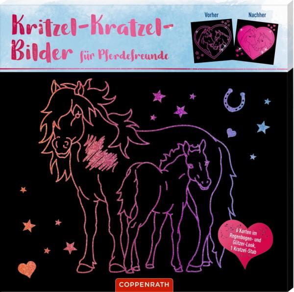 Kritzel-Kratzel-Bilder für Pferdefreunde