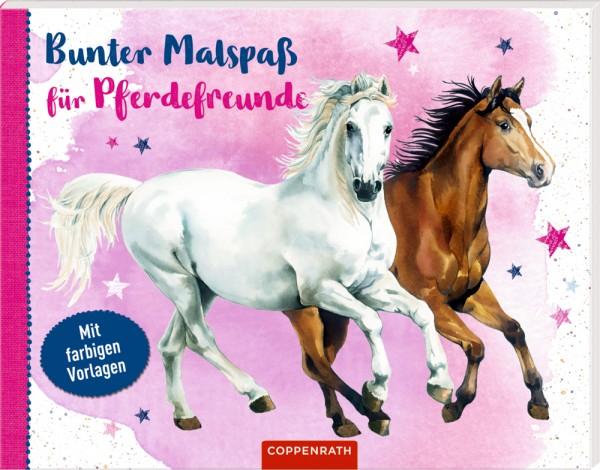Bunter Malspaß für Pferdefreunde - Mit farbigen Vorlagen