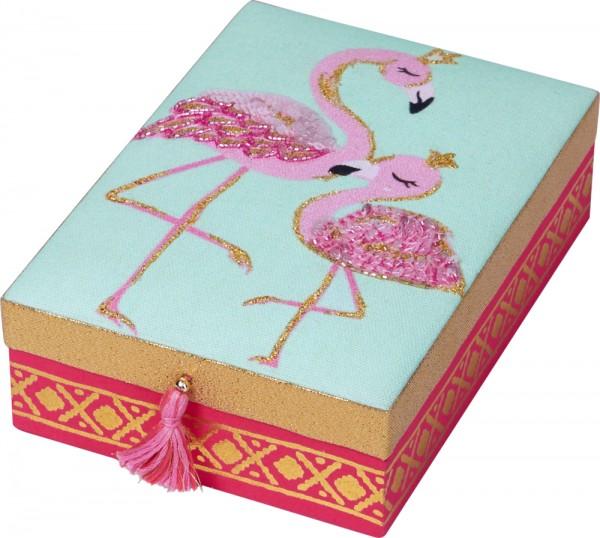 Schmuckkästchen Flamingo