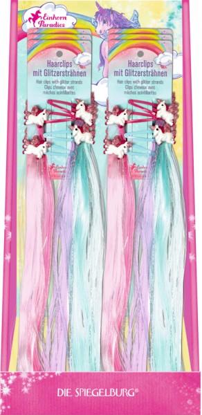 Haarclips mit Glitzersträhnen