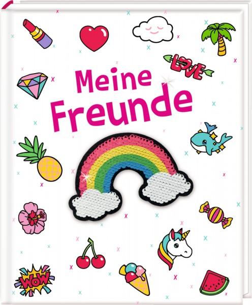 Freundebuch: Funny Patches - Meine Freunde mit Wendepailletten-Patch