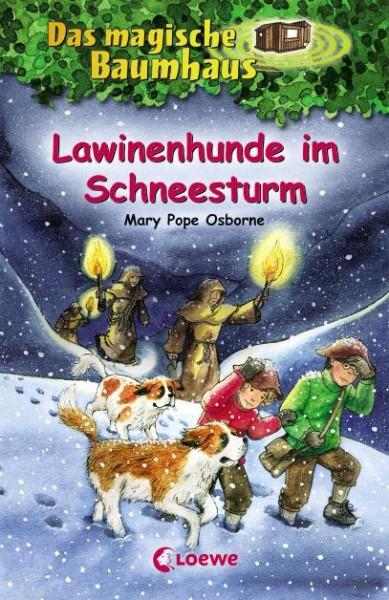 Magische Baumhaus Lawinenhunde im Schneesturm