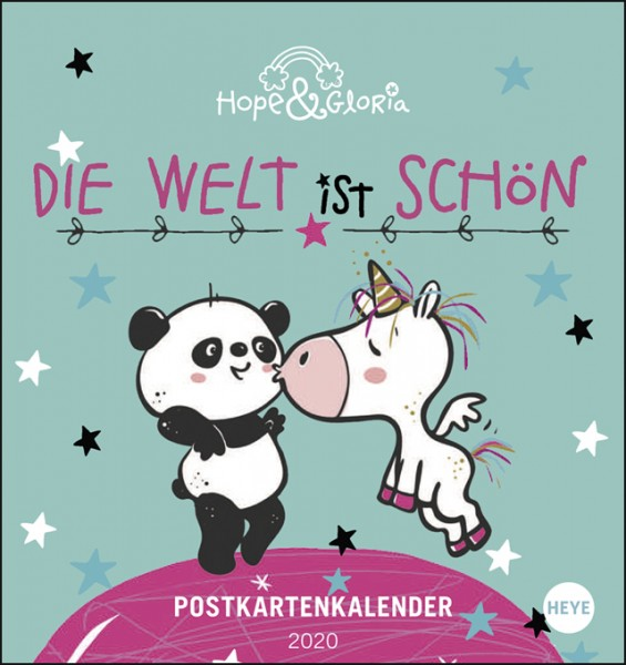 Hope & Gloria Postkartenkalender 2020