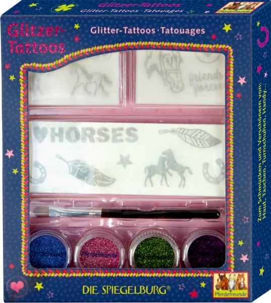 Glitzer-Tatoos Pferdefreunde