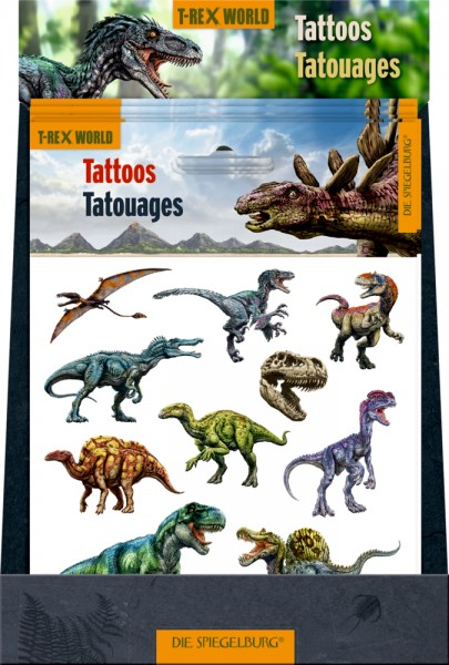 Tattoos T-Rex World (mit Glimmer)