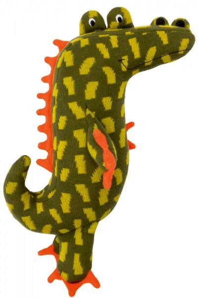 Kuschel-Stricktier mittel - Krokodil