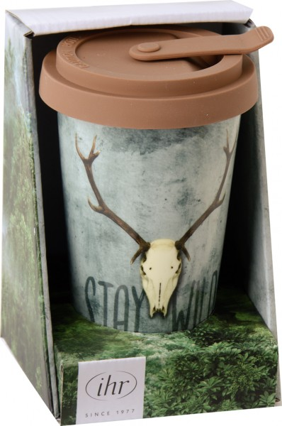 STAY WILD - Porzellan Coffee-To-Go-Becher
