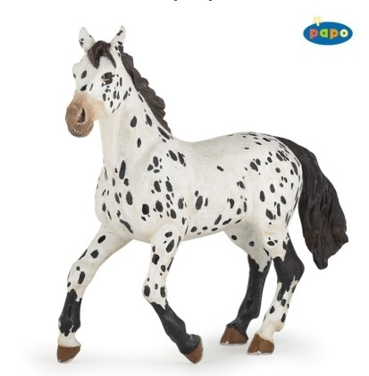 Appaloosa Pferd schwarz/weiss Papo