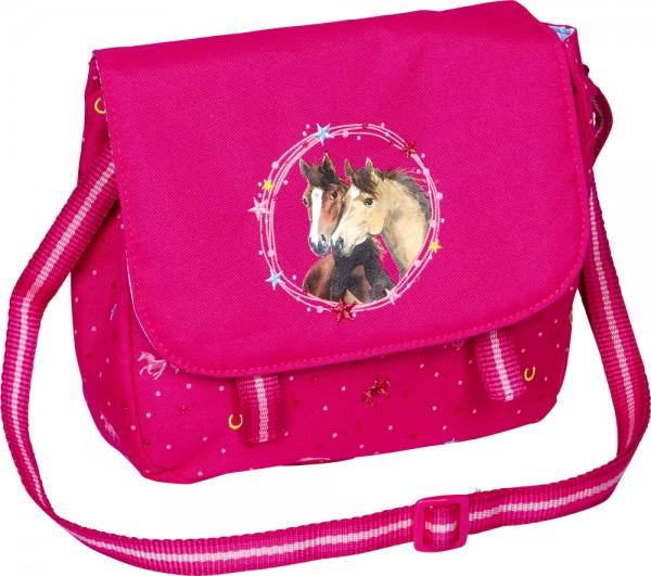 Umhängetasche Pferdefreunde pink