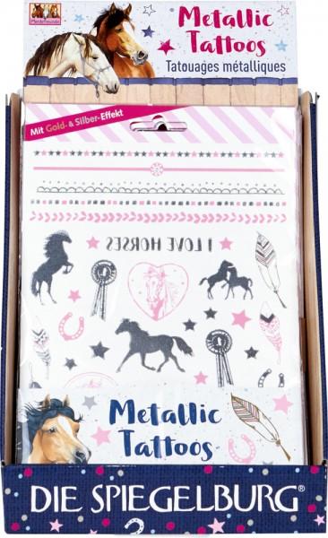 Metallic Tattoos Pferdefreunde neu