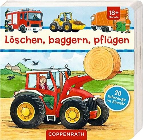 Bilderbuch: Löschen, Baggern, Pflügen