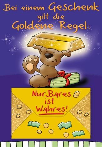 Bei einem Geschenk gilt die goldene Regel....