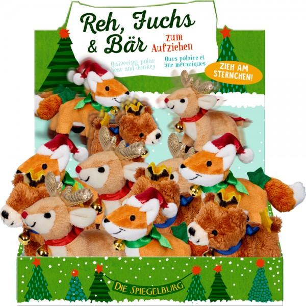 Reh, Fuchs & Bär zum Aufziehen