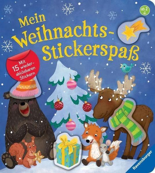 Mein Weihnachts-Stickerspaß Mit 15 wiederablösbaren Stickern