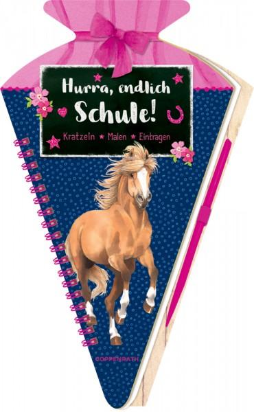 Schultüten-Kratzelbuch Hurra, endlich Schule! - Pferdefreunde Kratzeln, Malen, Eintragen