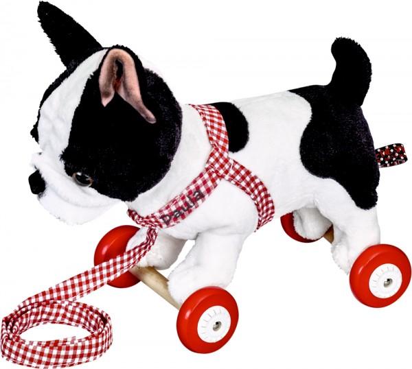 Französische Bulldogge Paula /Holzrollen