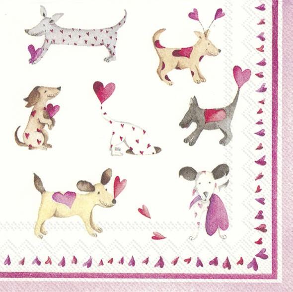 Love Heart Dogs Cocktailservierte