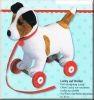 Lustige Tierparade Lucky auf Rollen