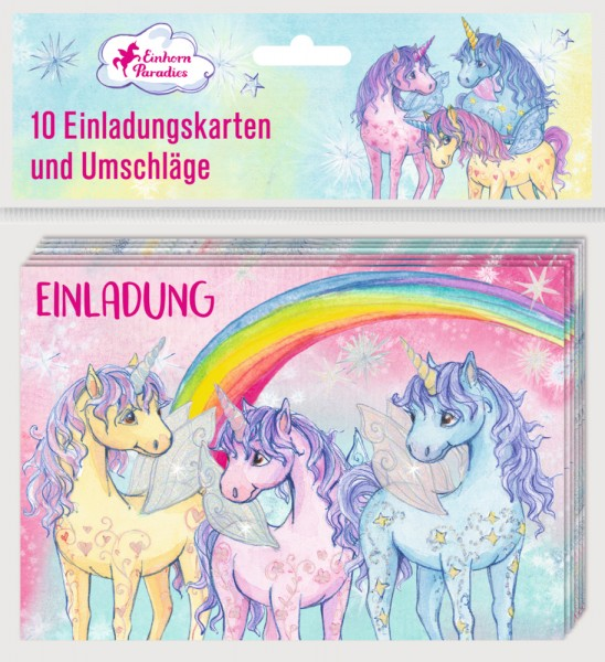 Einhorn-Paradies-Einladung