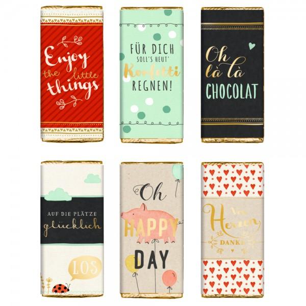 Glücks-Schokolade 30 g Viel Glück - Verkaufsdisplay