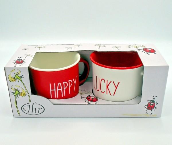 Happy - go lucky - Porzellanbecher Set