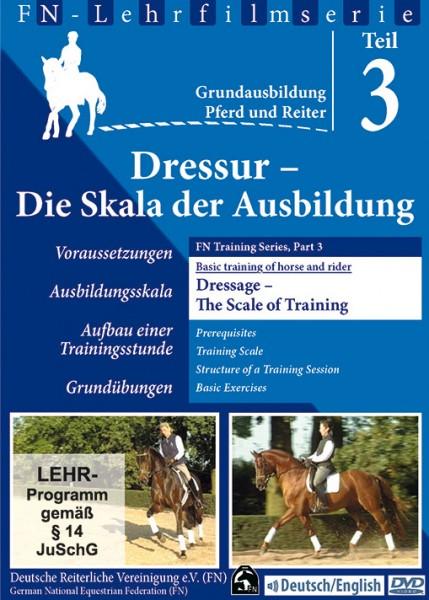 Grundausbildung für Reiter u. Pferd DVD Teil 3 - Die Skala der Ausbildung / Dressage - The Scale of
