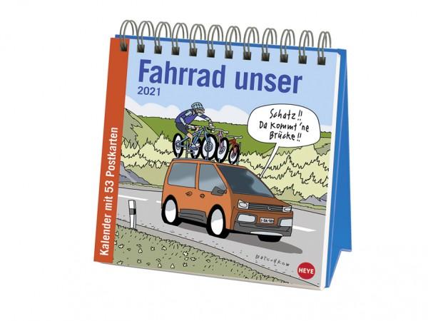 Fahrrad Premium-Postkartenkalender
