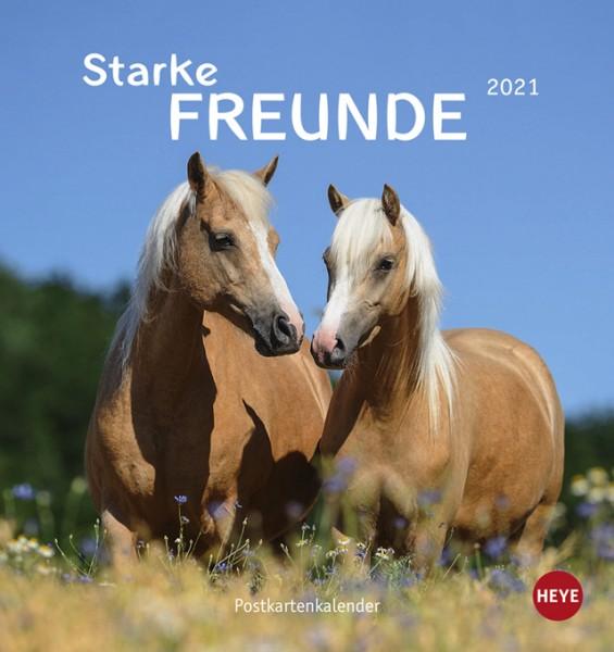 Pferde Postkartenkalender – Starke Freunde 2021