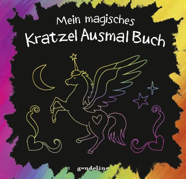 Mein magisches Kratzel Ausmal Buch (Einhorn)