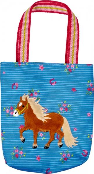 Täschchen blau - Mein kleiner Ponyhof