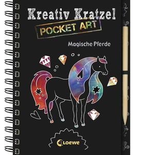 Kreativ Kratzel Pocket Art - Magische Pferde